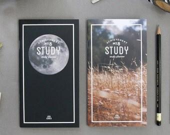 Achievement STUDY Planner Diary Scheduler Journal Schedule Book Handy Notebook Korean Stationery