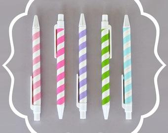 Striped Pens (Set of 10)