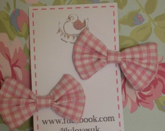 Bow Hair Clip Twin Pack