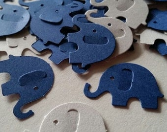 Elephant Baby Shower, Navy and Grey Elephant Baby Shower, Elephant Party Decorations, Elephant Confetti, Baby Elephant, Navy Blue Elephant