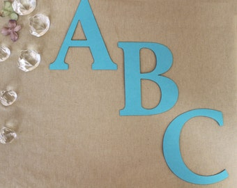 """Cut out paper letters & numbers  Matte metallic colors 4"""" card stock wedding banner invitation sign tag  scrapbooking paper DIY words"""