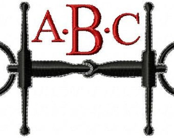 Bridle Monogram Frame