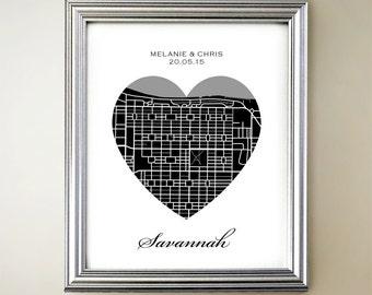 Savannah Heart Map