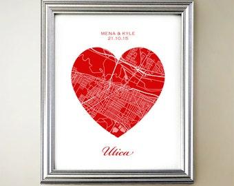 Utica Heart Map