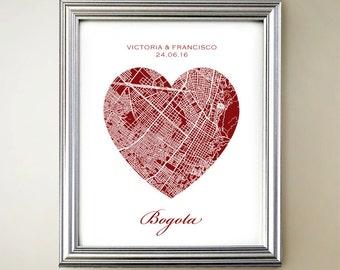 Bogota Heart Map