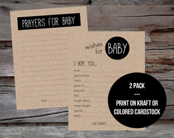 Baby Shower Game Pack - Prayers for Baby / Wishes for Baby