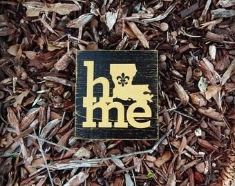 Mini New Orleans Saints Home Sign, Louisiana Saints, Southern Decor, Saints wooden sign, Man Cave, Cajun decor, Black and Gold Decor