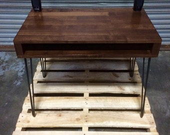 Black Walnut Storage Desk