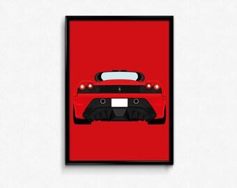 Ferrari 430 Scuderia A3 Print