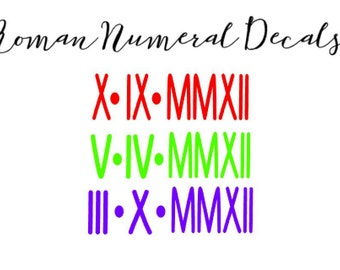 Roman Numeral Decal