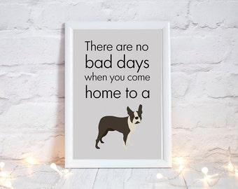 Boston owners! Gift for boston terrier lover, boston terrier lovers gifts, boston terrier gift for her, boston terrier art print, PRINT ONLY