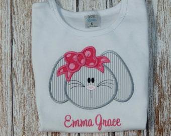 Girl's Easter shirt, Easter shirt; Toddler girl Easter shirt; Girl's personalized Easter shirt; Easter top