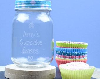 Cupcake Cases Personalised Storage Jar