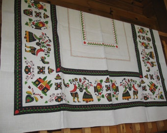 PA Dutch Linen Tablecloth