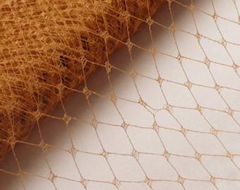 Vintage Millinery Veiling // Fascinator Net // Mustard