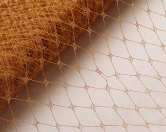 Vintage Millinery Veiling // Fascinator Net // Mustard Color