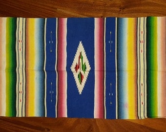 Vintage Saltillo Mexican Small Rug