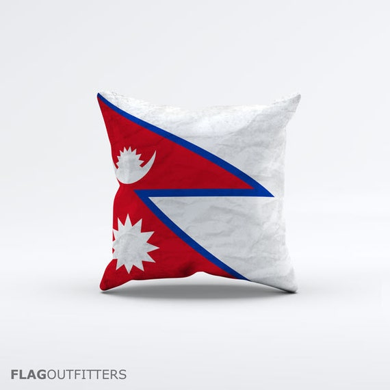 15 Inch Throw Pillow Covers : Flag of Nepal Throw Pillow Cover 15 x 15 inch