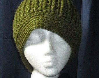 Men's Crocheted Cable Beanie