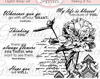 Thinking of You Digital Stamp Set