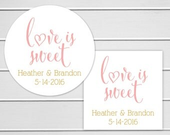 Love Is Sweet Wedding Stickers, Wedding Favor Sticker, Wedding Stickers, Wedding labels (#209)