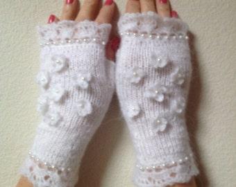 Hand-knitted Fingerless Gloves