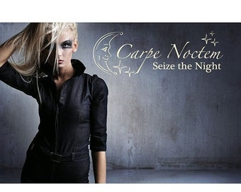 Summer Sale - 20% OFF Carpe Noctem wall quote decal, sticker, mural, vinyl wall art saying