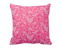 7 Sizes Available: Pillow Cover Decorative Pillow Throw Pillow Euro Pillow Pink Pillow Hot Pink Pillow Sofa Pillow Paisley Pillow Accent Pil