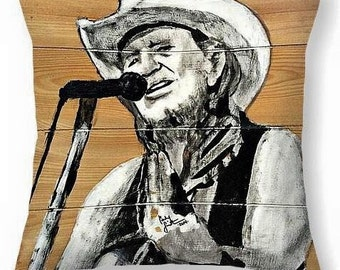Willie Nelson PopArt Pillow