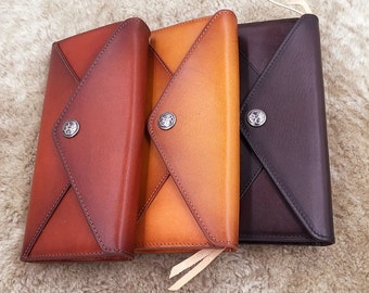 Bridesmaid Gift/Leather Purse  for Bridesmaid/Leather wallet/vintage wallet/leather wallet woman/handmade wallet/gift