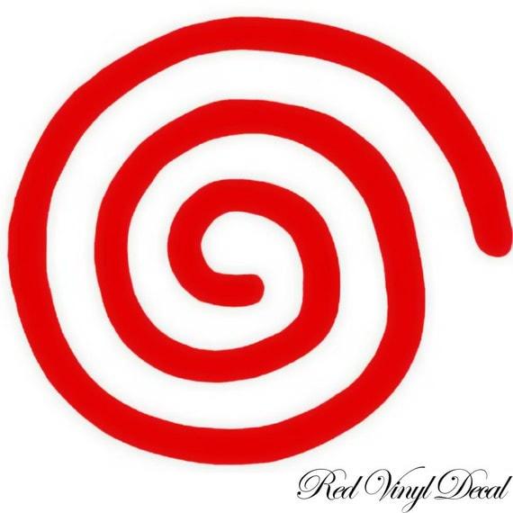 Red Sega Dreamcast Swirl Vinyl Logo Decal Sticker Xbox One Ps4