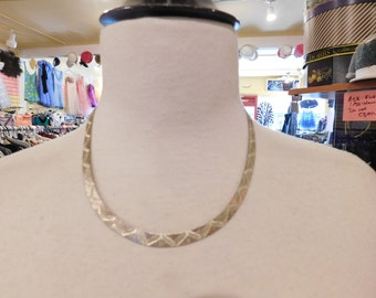 Vintage Silver choker Necklace 925