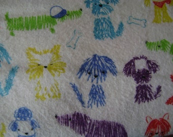 Shaggy Dog Flannel Fabric (1 yard 17 inches)