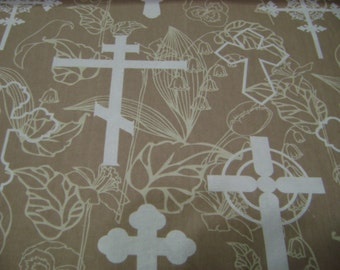 Religious Crosses Fabric Sold by the Yard