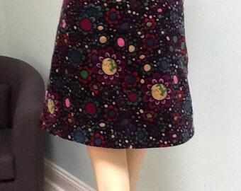 ESPRIT Skirt,Corderoy,Vtg.1990's ~ Size 11 / 12