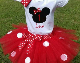 Minnie Mouse Tutu Outfit.  Perfect for birthday parties, pics, etc