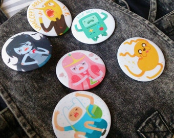 Adventure time badges ( 58mm)
