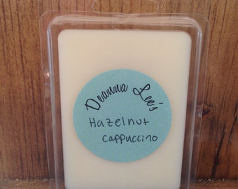 Hazelnut cappuccino wax melts, soy wax melts, cappuccino wax melts, coffee wax melts, wax tarts, soy tarts, candle melts, flameless candle