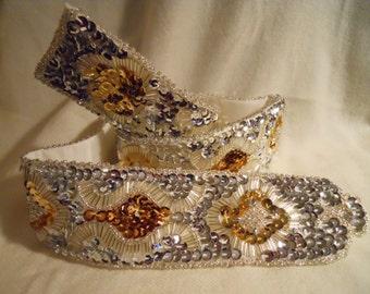 Vintage sequined & beaded belt