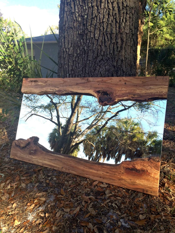Live Edge Wood Slab River Mirror