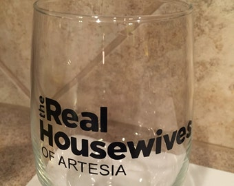 Housweives Wine Glass