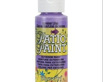 Patio Paint Outdoor, Summer Lilac, 2 oz bottle, Decoart