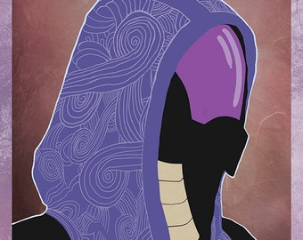 Mass Effect - Tali -  stylish minimal print / poster