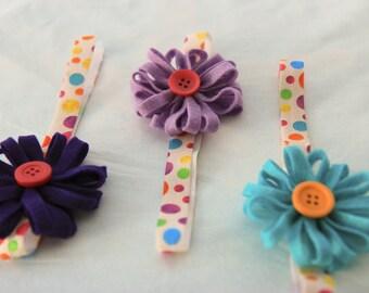 Bright Felt Flower Baby Headband - Newborn Baby Prop Headband - Infant Headbands - Baby Shower Gift - Newborn Headband