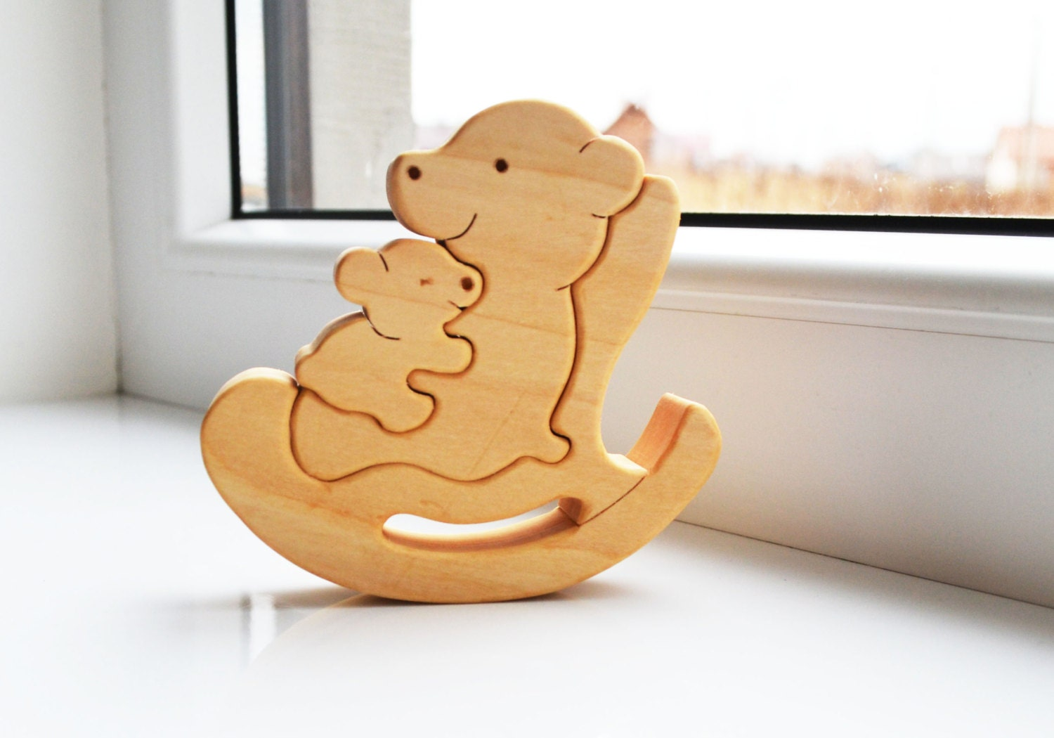 Mother S Day Kids Gift Wood Bear Wooden Puzzle Bear