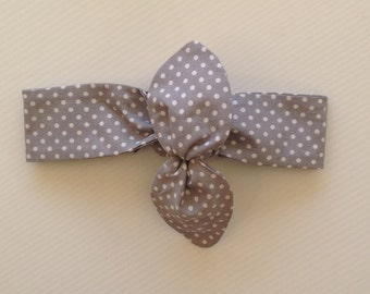 Baby headband gray, polka dot, mommy and baby headband sets, headbands babies, polka dot headband