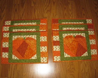 Patchwork Pumpkins Placemats
