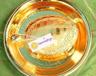 Medium Sarva Ichha Kachua Kachuva Plate Gold Yantra Yantram Wish Turtle Tortoise MUA0022MEDIUM