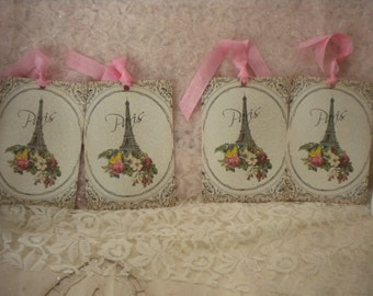 Shabby Vintage Paris Eiffel Tower Tags (4)