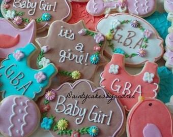1 dozen baby shower cookies!